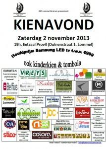 Kienavond poster 2013