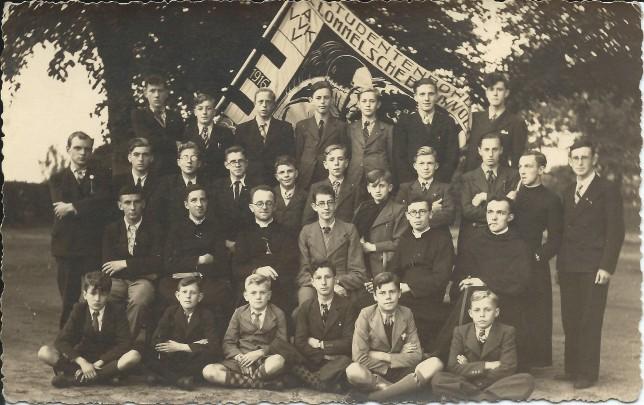 Groepsfoto van Lommelse Blauwvoeters in 1941